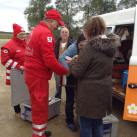 The Red Cross co-ordinated efforts