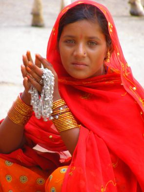 Beautiful busker Pushkar