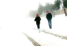 Snow Arabs in Amman