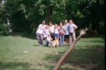 The full gang at the vet's
