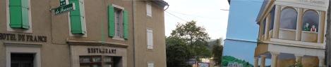 Main street Rennes-les-Bains