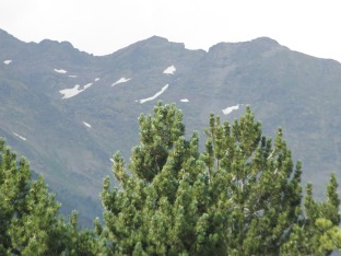 Snow up on the mountains, even in August