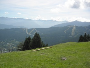Summer ski slopes